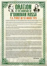 Exclusive A3 Poster - P. H. Pearse Oration at the Graveside of O'Donovan Rossa