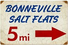 Bonneville Salt Flats rusted steel sign 460mm x 300mm (pst)
