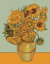 LUCA-S  B422  Sunflowers  Kit  Broderie  Point de croix compté