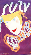 POSTER SUZY SOLIDOR - CABARET - COTE FRENCH RIVIERA early 20th