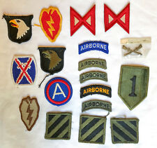 Vintage Set of 17 Original Airborne Military Army Airforce Infantry Patches pin