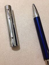 FRANKLIN COVEY GREENWICH BLUE CHROME TRIM BALLPOINT PEN-NEW OLD STOCK.