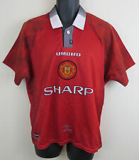 Umbro 90s Manchester United Theatre of Dreams Football Shirt 1996-98 M Medium