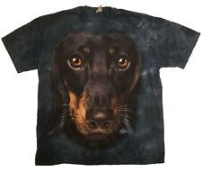 The Mountain Dachshund Face Vincent Hie T Shirt, Storm Blue, XL