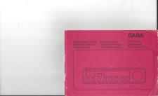 Saba Original Bedienungsanleitung user manual für ULTRA  professional 9240 S