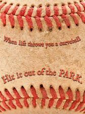 LIFE THROWS CURVEBALL HIT PARK BASEBALL SPORT QUOTE TYPOGRAPHY POSTER QU282A