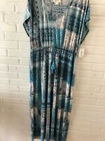 New Style & Co Woman's Sleeveless V Neck Moroccan Print Maxi Dress  Plus   L16