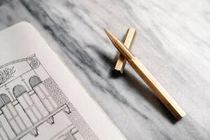 ystudio Brassing Rollerball Pen