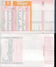 TOTOGOL SCHEDA  N.5 A 30 PARTITE 3à USCITA A LIVELLO NAZIONALE DEL 09 10 1994