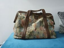 Vintage Tapestry Mary Poppins Style Carpet Bag Large
