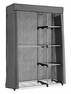Whitmor Deluxe Utility Closet - 5 Extra STORAGE, Silver With Grey Cover