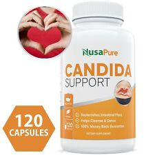 NusaPure Candida Cleanse (NON-GMO) 120 CAPS: Yeast Infection Treatment