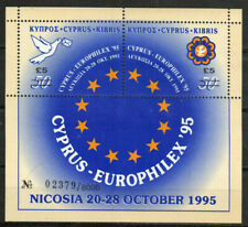 Cyprus Stamp - Europhilex 95 surcharged 5 lb on each stamp Stamp - NH