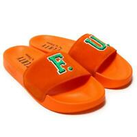 PUMA Fenty Rihanna Leadcat FU Orange Womens Slides Ladies Suede Fashion Sandals