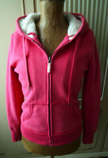 Jacke Sweatjacke H&M Gr. S-M Pink Kapuze Teddyfell Plüsch Kängurutaschen