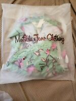 NWT! Women's Matilda Jane Size Small Sleeveless Top Pink Green Floral Never open