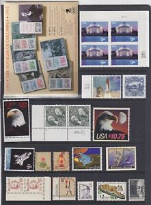 UNITED STATES HIGH DENOMINATIONS $1 - $10.75  ALL MNH FACE VALUE $93.39   T4