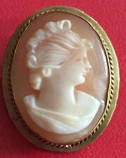 Ancienne Broche Pendentif Camée Monture Bronze Ref C453