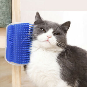 3 Colors Massage Brush Self Groomer Brush Wall Corner Cat Toy Hair Removal Comb