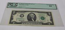 Fr 1936 F* 1995 Two Dollar Star Note 2 Atlanta PCGS Graded 64  Very Choice New