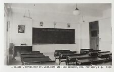 Classe Orphelinat St Jean-Baptiste LAC SERGENT Portneuf Quebec 1940-60 RPPC P450