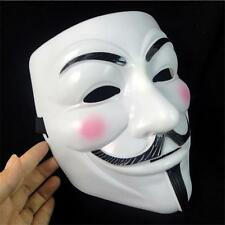Sales V For Vendetta Mask Guy Fawkes Anonymous Halloween Masks Fancy Cosplay sF