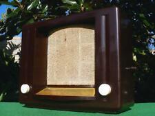 IMPOSING 1930's Vintage Art Deco BRITON THEATRETTE Brown Bakelite Valve Radio