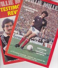 Aberdeen v Tottenham Hotspur 16 Aug 1981 Willie Miller