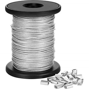 Chengu Vinyl Coated Picture Frame Hanging Wire, Stainless Steel Wire Spool with
