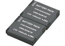 New 2x DMW-BCM13 DMWBCM13E Battery for DMC-FT5 FT5A FT5D TZ40 TZ40K TZ40R Camera