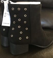 NWT Old Navy Little Girls' Size 12 Little Black Boots, So Adorable!!!