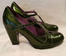EUC Green Purple Leather Poetic Licence Venom Mary Jane Pumps Heels Size 10M
