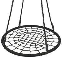 "40"" Kids Spider Web Tree Net Swing Set Playground Indoor Patio Detachable EZ Set"