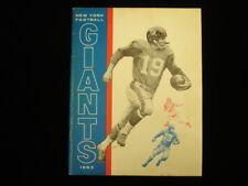 1963 New York Giants Yearbook