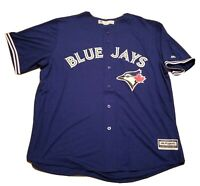 NEW Majestic Men's MLB TORONTO BLUE JAYS Baseball Jersey Sz XXL 2XL