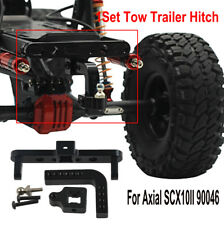 Metal Alloy Adjustable Tow Trailer Hitch For Axial SCX10II 90046 1/10 RC Crawler