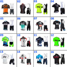 2020 Men's Cycling Wear Kit Short Sleeve Jersey and Bib Shorts Bike Clothing Set