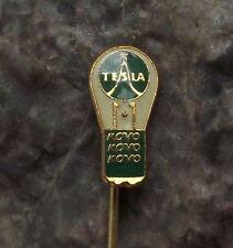 Antique Tesla Electronics Kovo Lamp Small Light Bulb Czechoslovakia Pin Badge