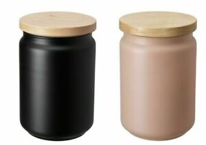 Ikea Glass Storage Containers Jar with Silicone Rubber Seal Lid Food Canister 1L