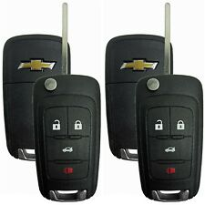 2 OEM Remote Flip Key keyless Entry Uncut Blade For Switchblade 4 Button Chevy