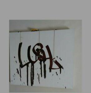 LUSHSUX - Original Rare,Mixed Media, Signed painting Worked@Banksy Dismaland etc