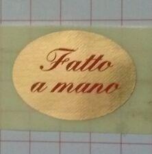 1000 BOLLINI ADESIVI CHIUDIPACCO etichette per negozi FATTO A MANO, B5 + omaggio