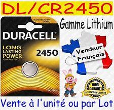 Piles boutons CR2430 DURACELL - Dispo aussi : CR2032 CR2025 CR2016 CR1620 CR2450