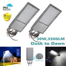 2 X Outdoor Street Light 30W LED IP65 Waterproof Dusk to Dawn Farm Area Lighting