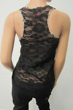 *NICE*  Eight Sixty SEXY SUPER CUTE Lace Sheer Chiffon Festival Tunic Tank Top S