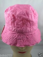 B49:New $6.99 WonderKids Reversible Bucket Hat for Toddlers from USA-Pink