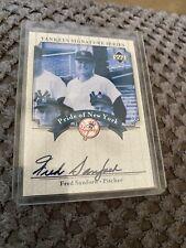 Autographed Upper Deck 2003 Fred Sanford #PN-FS Yankees Baseball Card