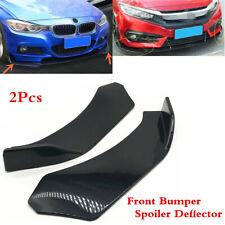 2Pcs Black Car ABS Front Bumper Lip Diffuser Splitter Canard Deflector Universal