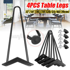 4X Metal Black Hairpin Table Desk Leg Feet Furniture Holder Desk Bench 2/3 Rod