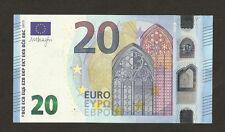 Germania € 20 EURO Mario Draghi è autografato BEL numero di serie finale 777 # UNC